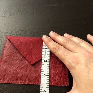 Louis Vuitton Bags - Louis Vuitton red Leather envelope